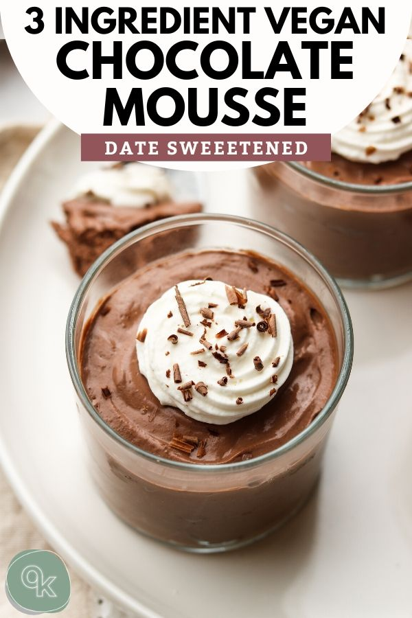 tofu chocolate mousse pinterest graphic