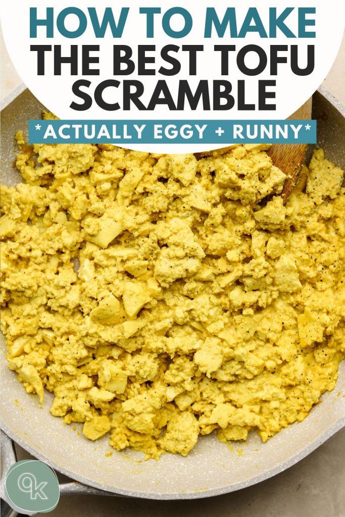 tofu scramble pinterest graphic