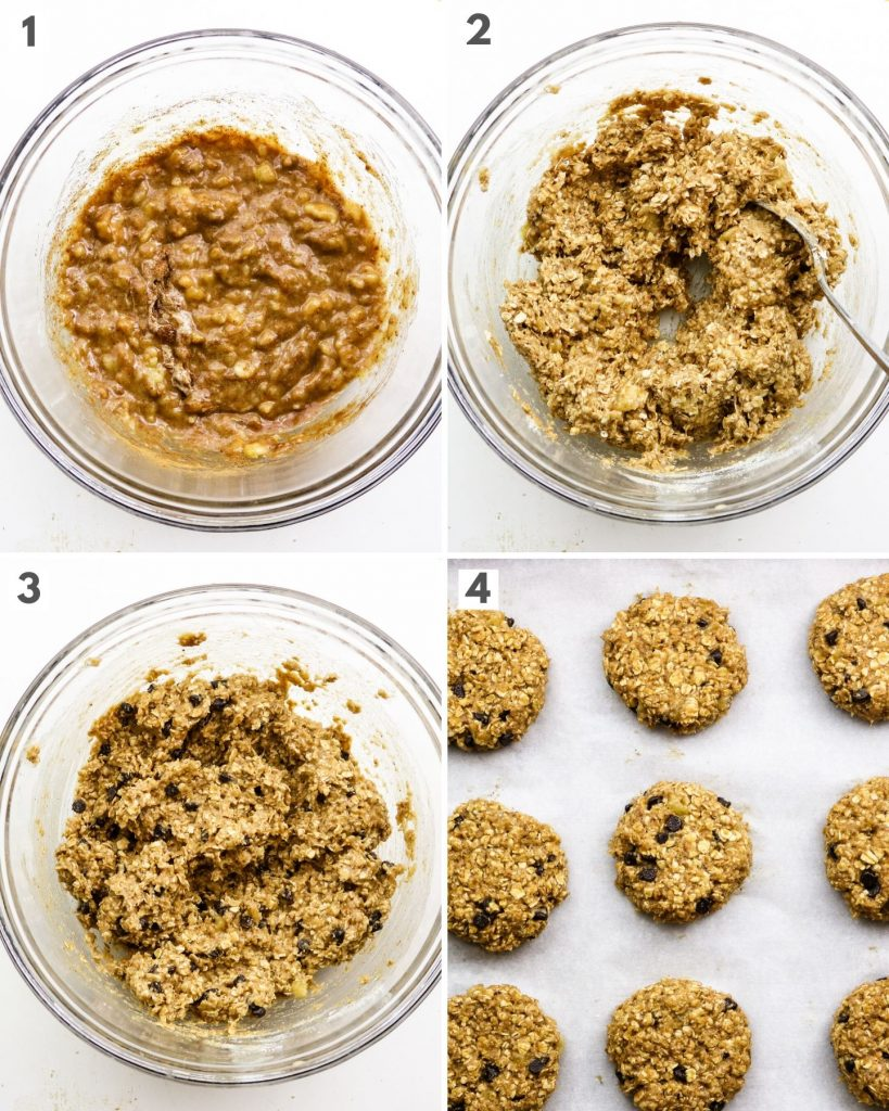 how to make banana oatmeal breakfast cookies