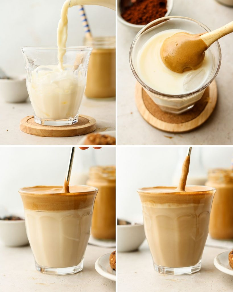 step by step how to make whipped iced coffee