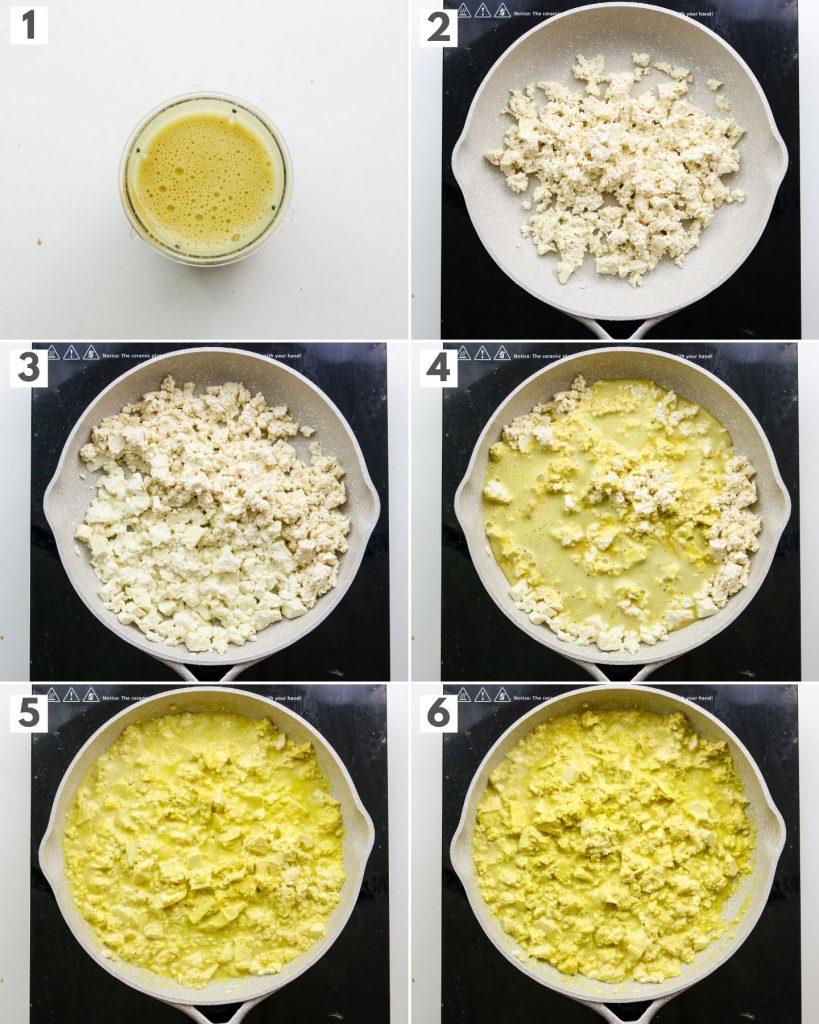 step by step how to make vegan tofu scramble