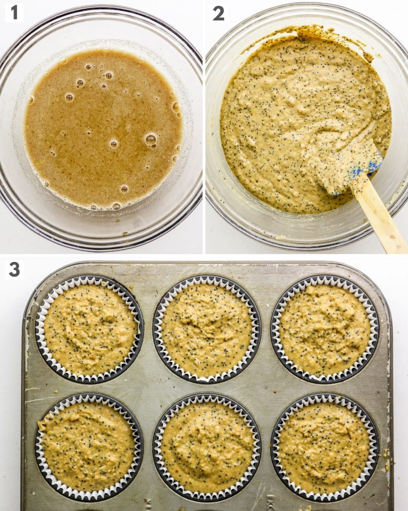 step by step how to make vegan muffins