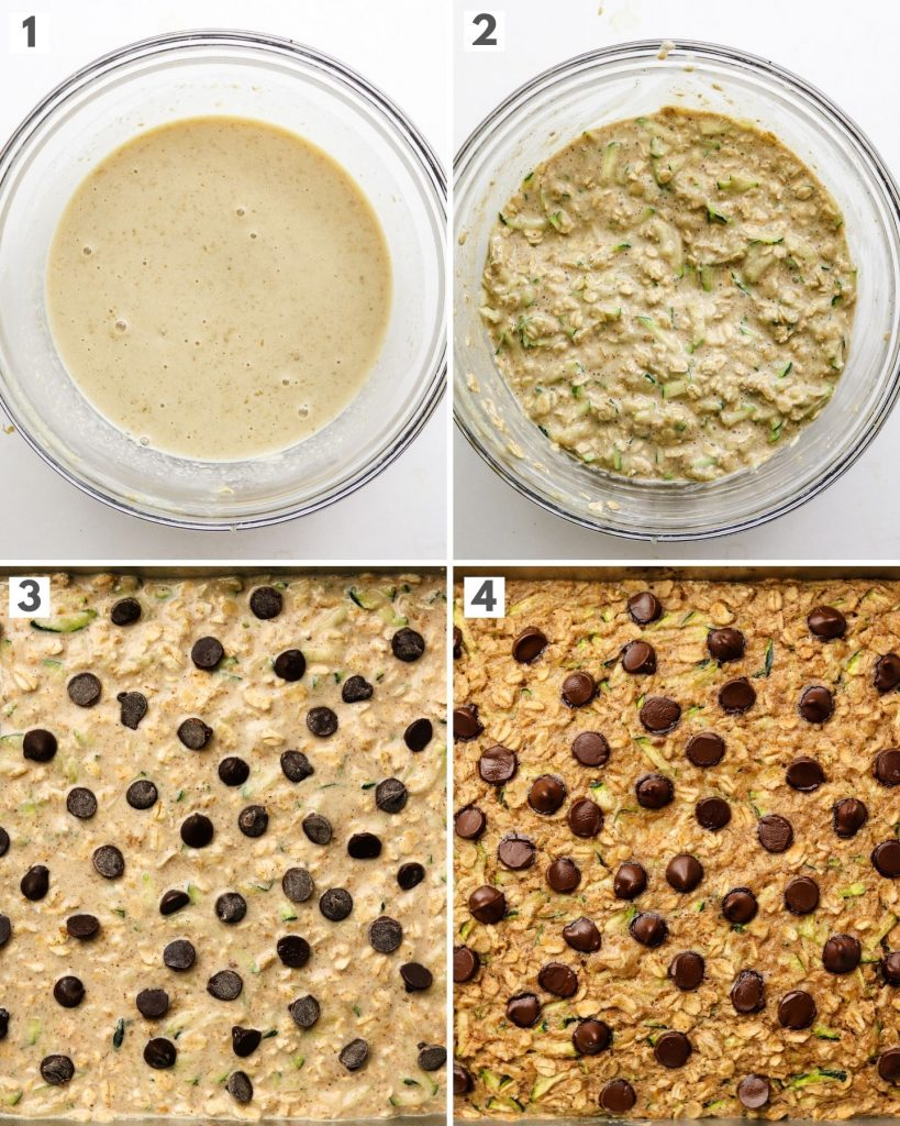 step by step instructions on how to make zucchini baked oats