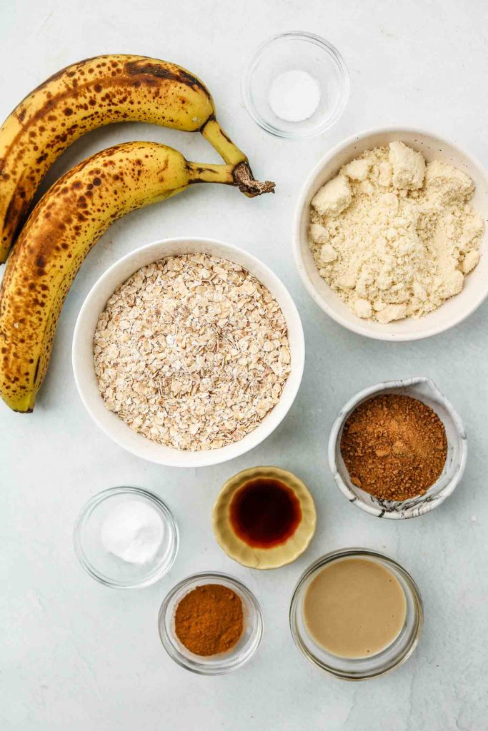 breakfast banana oatmeal cookie ingredients
