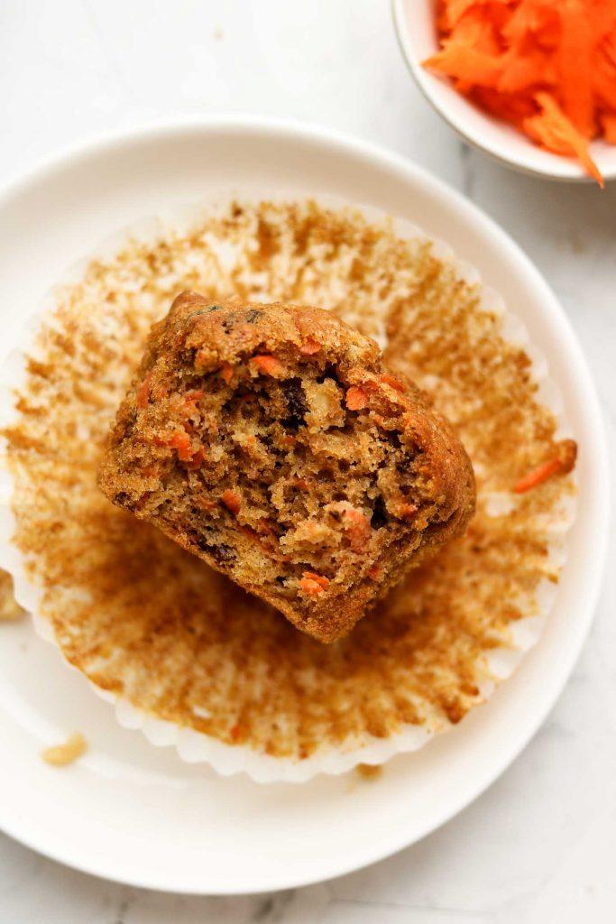 spelt flour almond flour carrot muffins bite shot