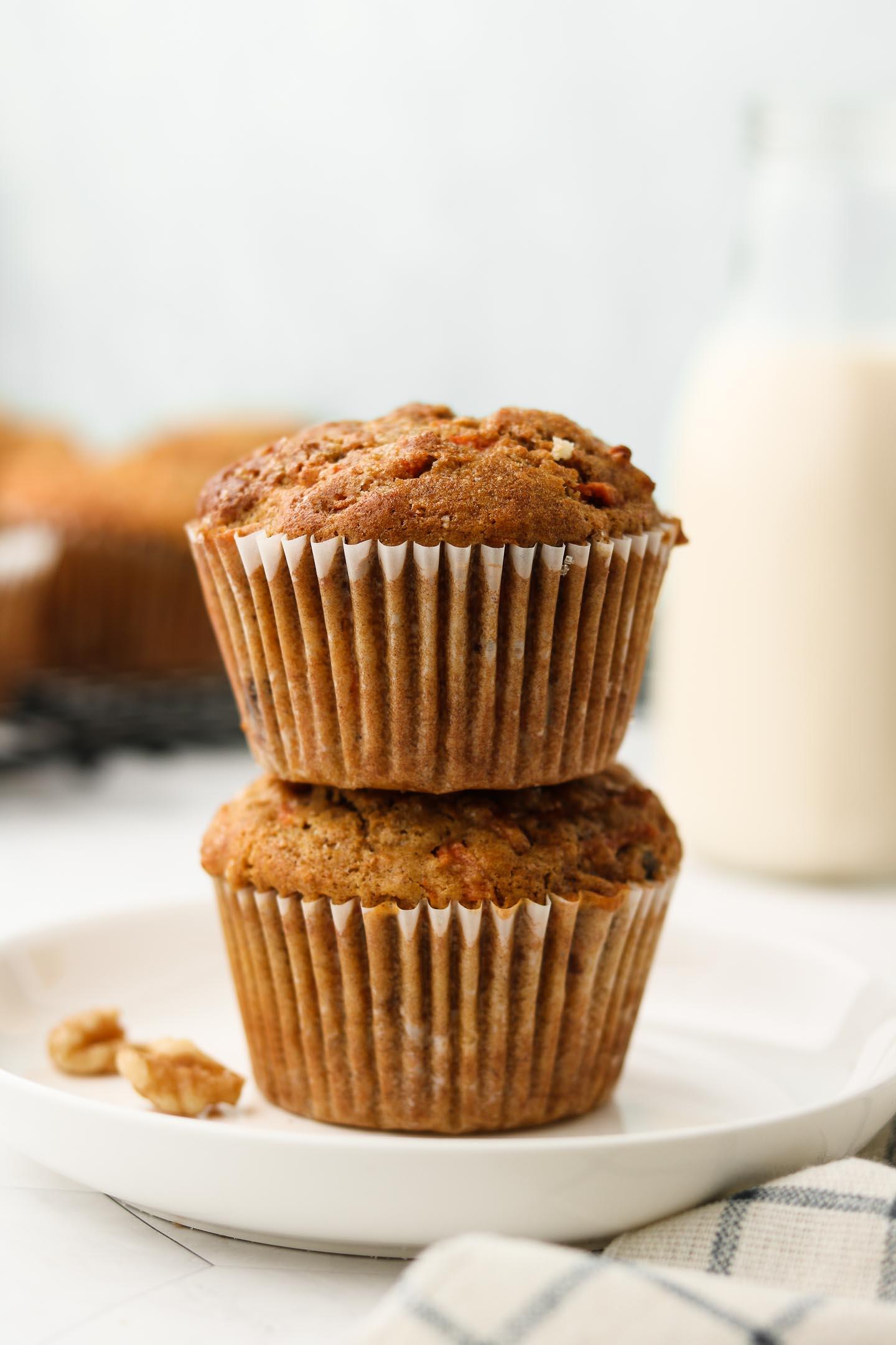 Vegan Carrot Cake Muffins Gf Oil Free Okonomi Kitchen