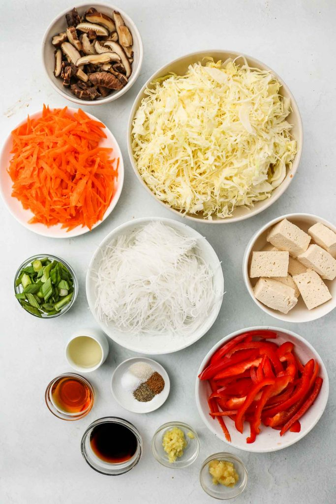 egg roll bowl ingredients