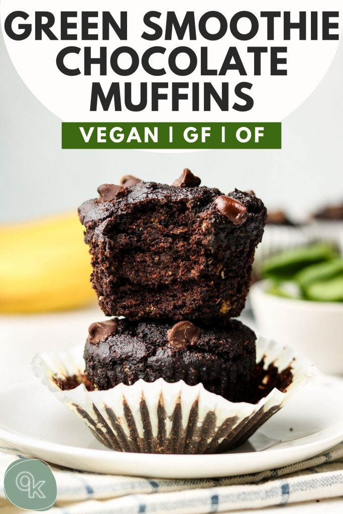 chocolate banana muffins pinterest graphic