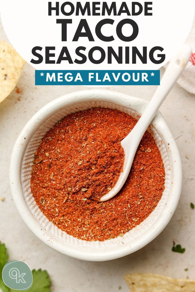 homemade taco seasoning pinterst graphic