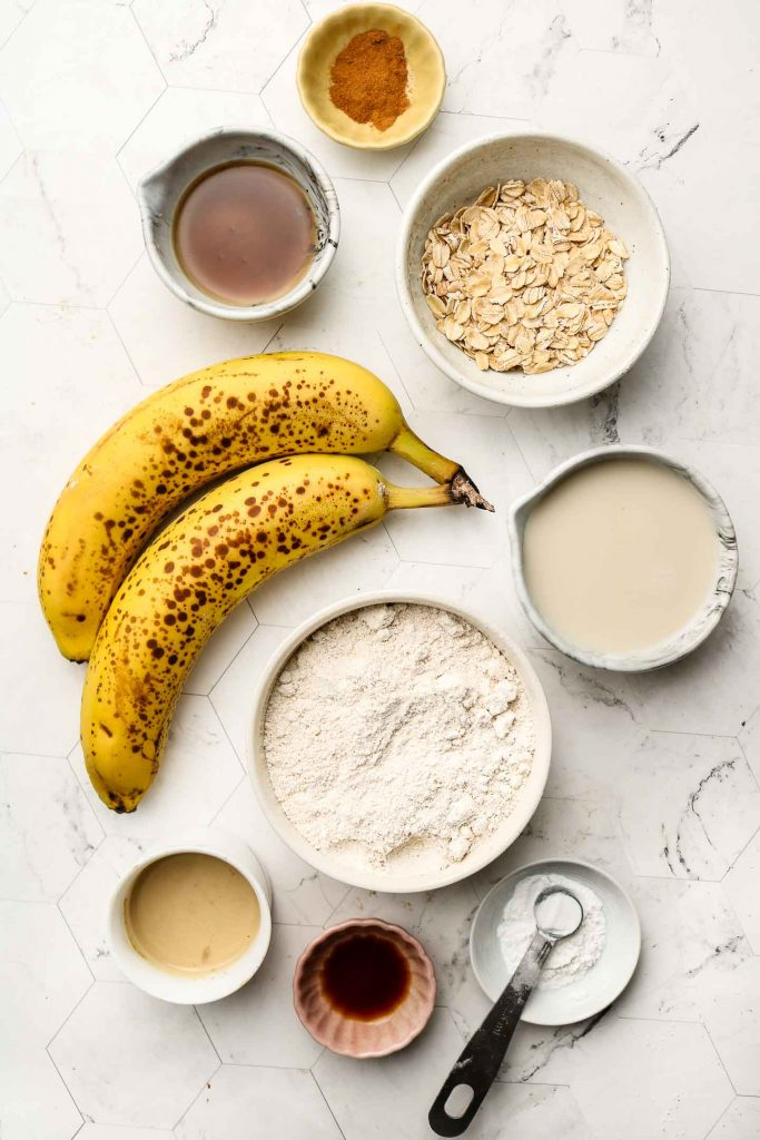 ingredients for baked banana donuts
