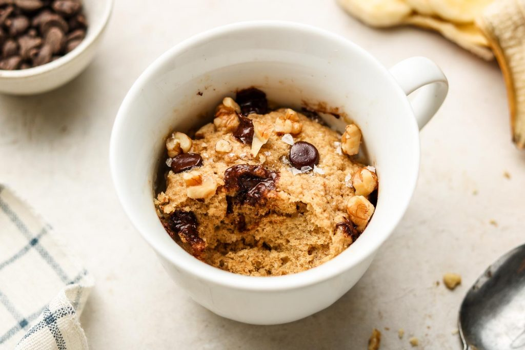 Healthy Banana Bread Mug Cake Vegan Gluten Free Okonomi Kitchen