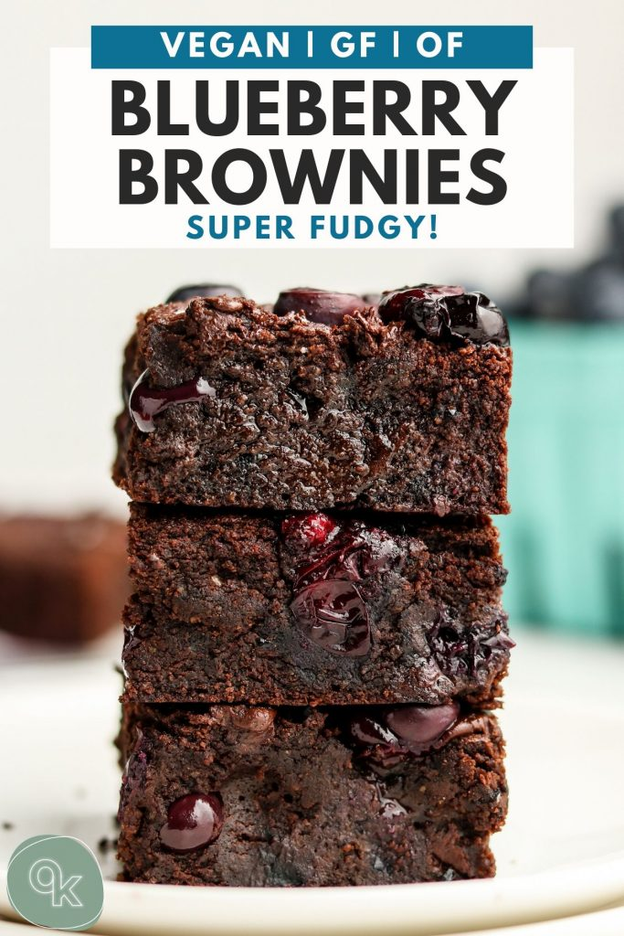 pinterest recipe graphic for blueberry brownies