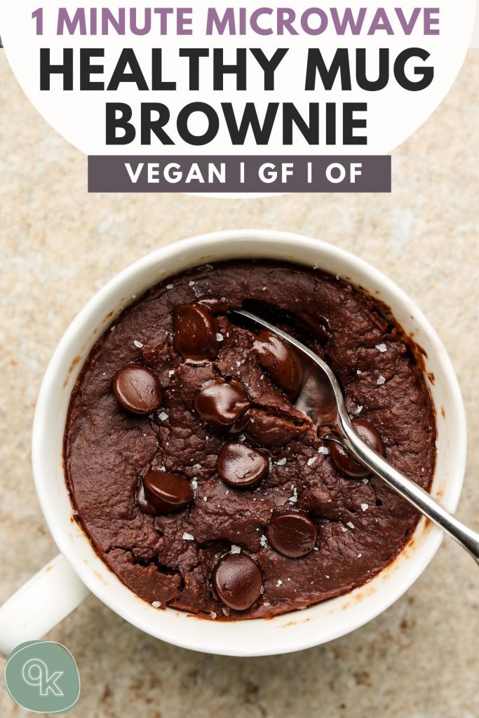 Fudgy Vegan Mug Brownie Easy Healthy Okonomi Kitchen