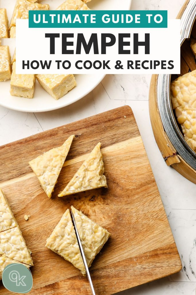 how to cook tempeh pinterest graphic