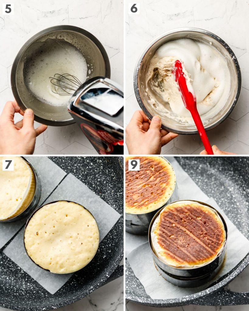 step by step how to make fluffy japanese pancakes vegan