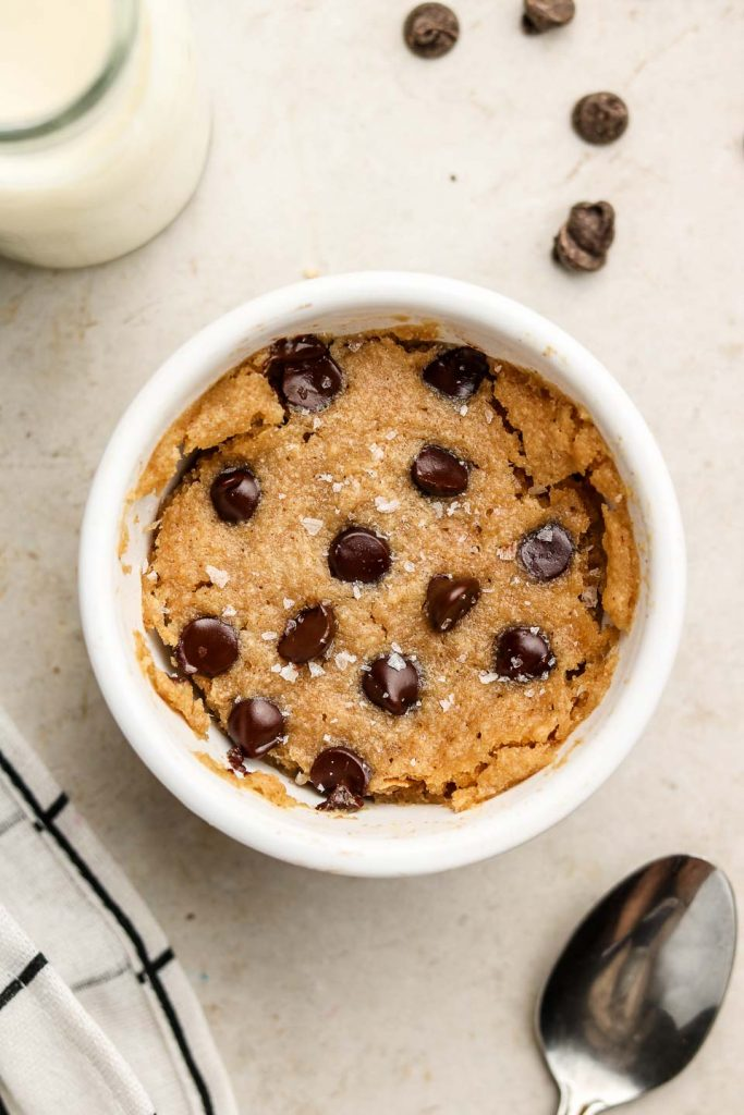 Healthy Chocolate Chip Mug Cake Vegan Gluten Free Okonomi Kitchen