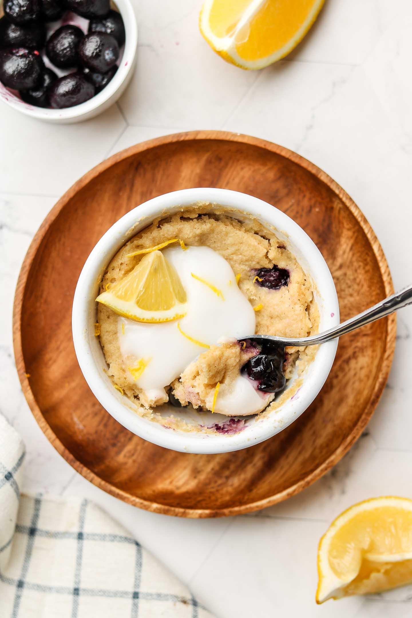 Easy Blueberry Lemon Mug Cake Vegan Gluten Free Okonomi Kitchen