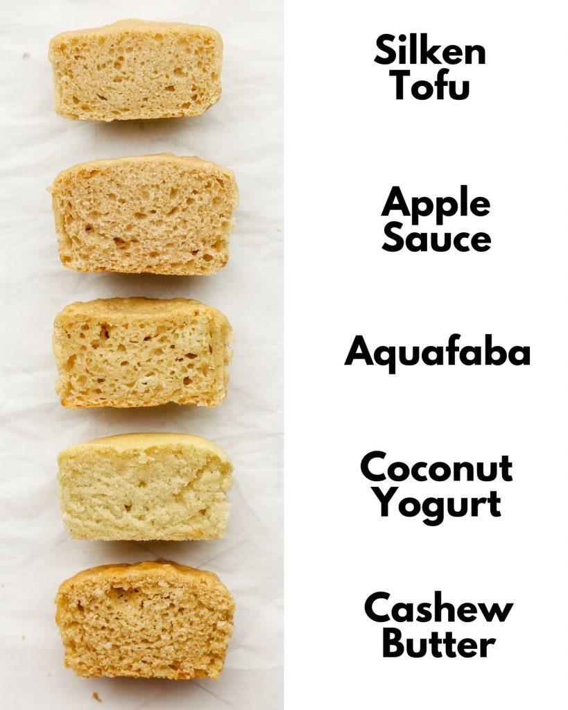 comparison of gluten free vegan cupcakes using different oil subsitutes
