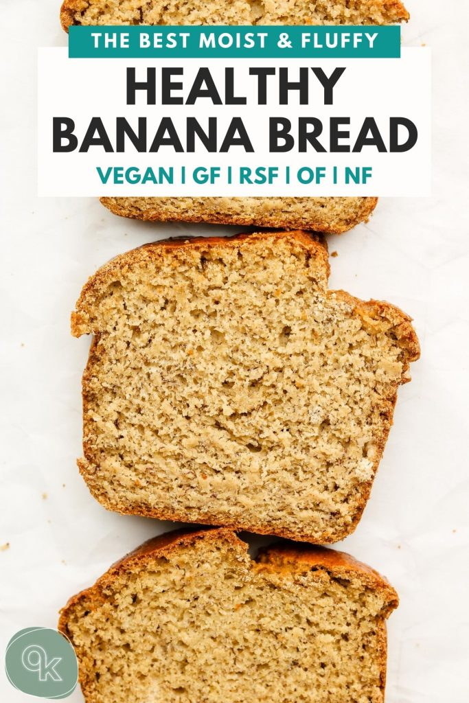 gluten free vegan banana bread on parchment paper