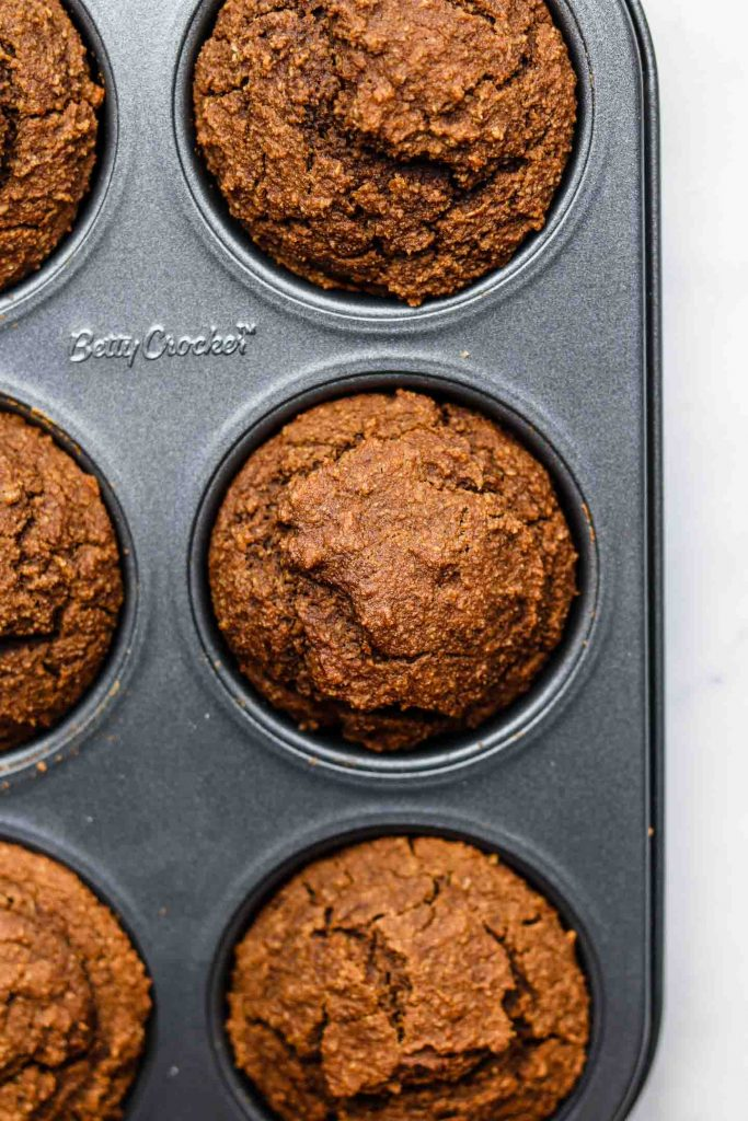 dirty chai muffins in a 6 cup muffin tin baked