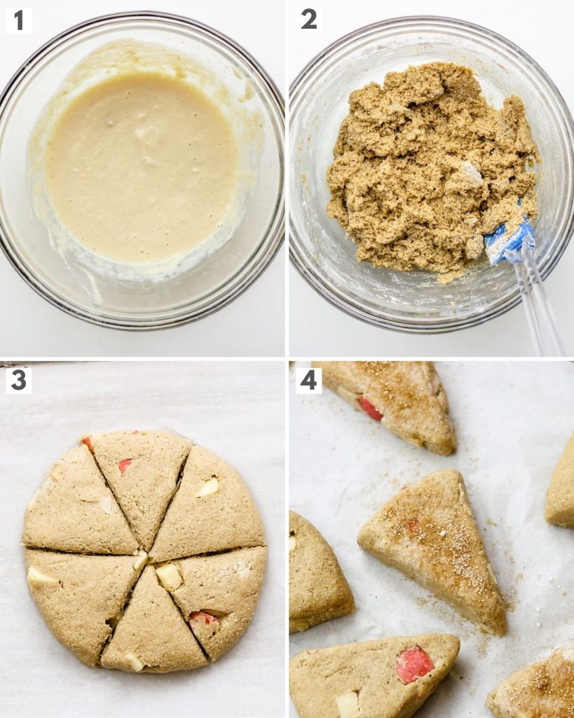 step by step how to make healthier scones