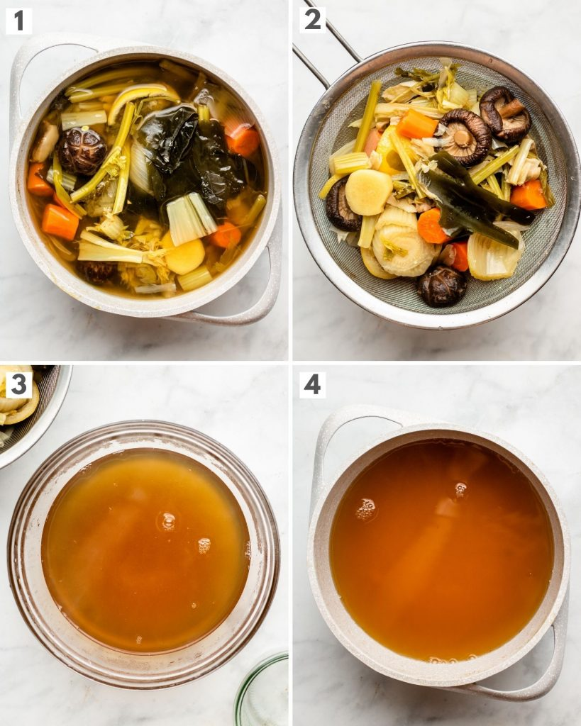 step by step how to make vegan bone broth / umami broth