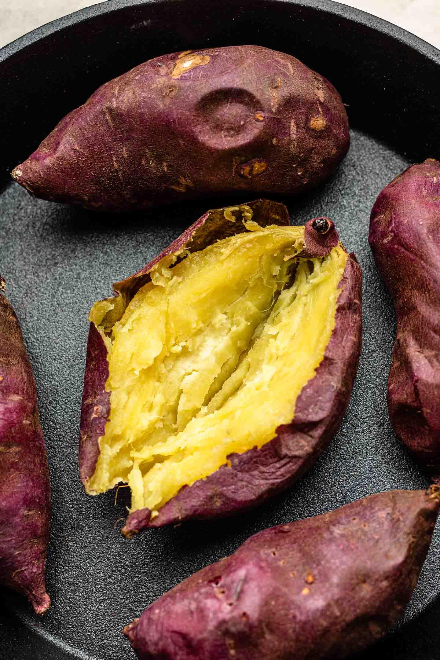Baked Japanese Sweet Potatoes Authentic Yaki Imo Okonomi Kitchen