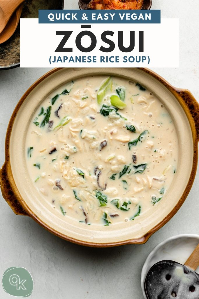 creamy rice soup in a clay pot