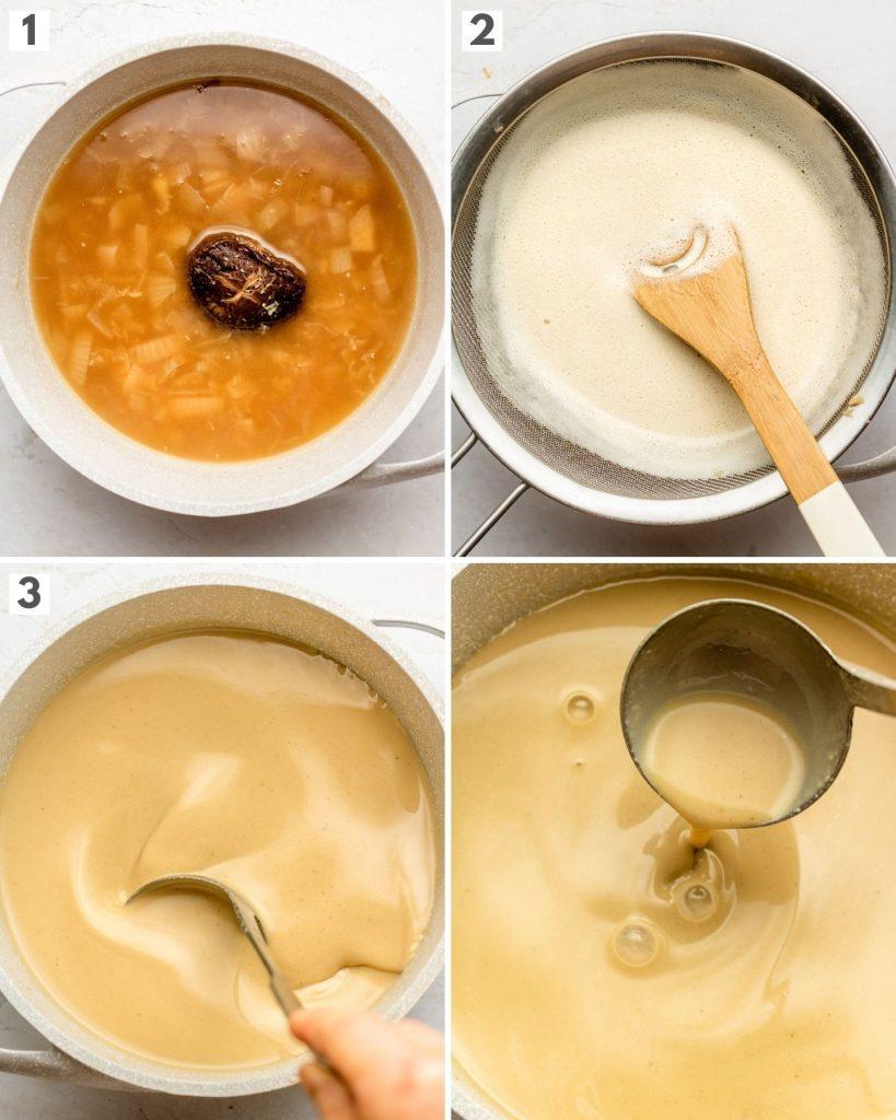 step by step how to make vegan tonkotsu ramen broth