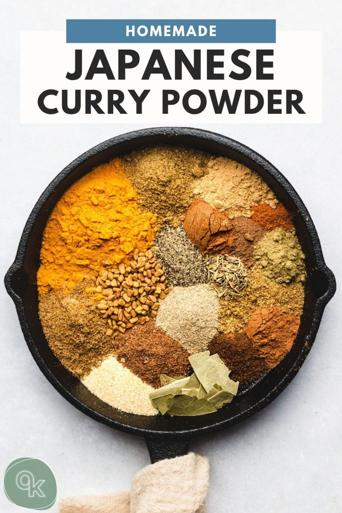 mild curry spices in a skillet