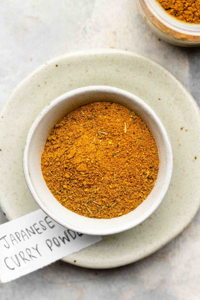 curry powder in a white bowl