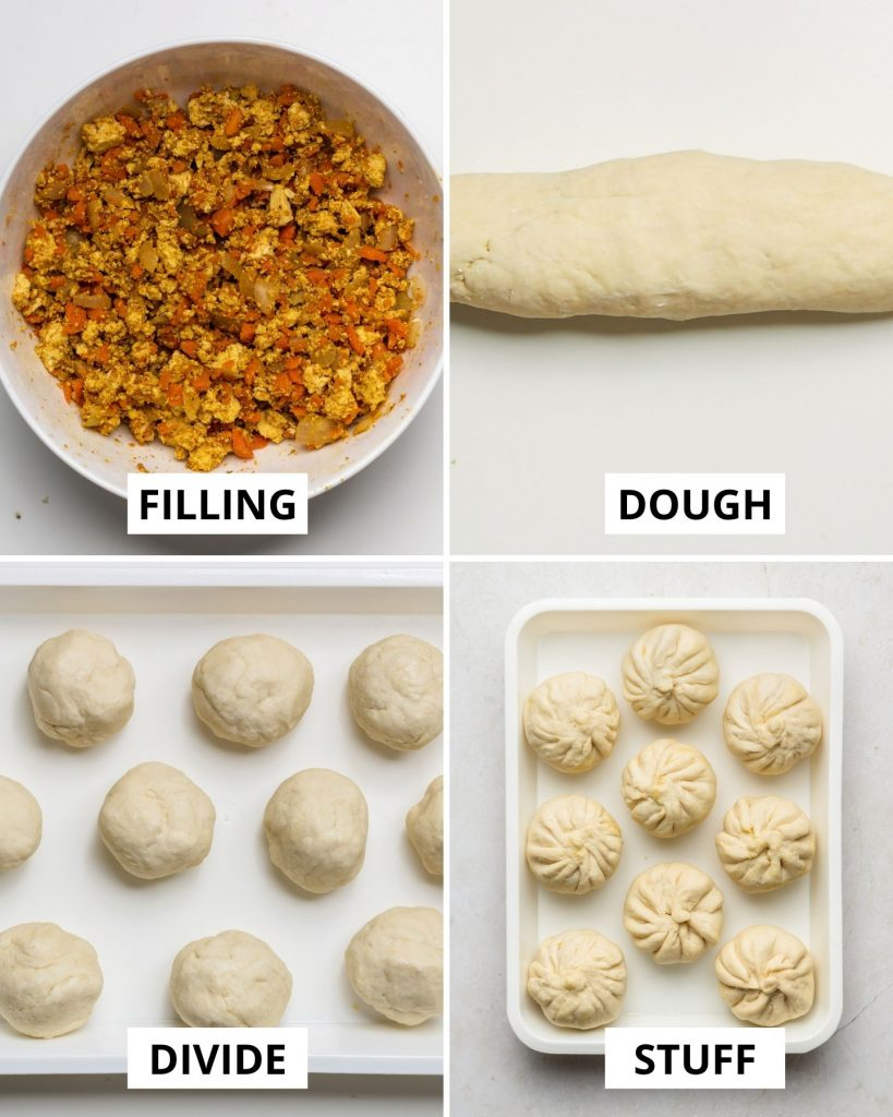 yeast free dough rolled into 10 pieces