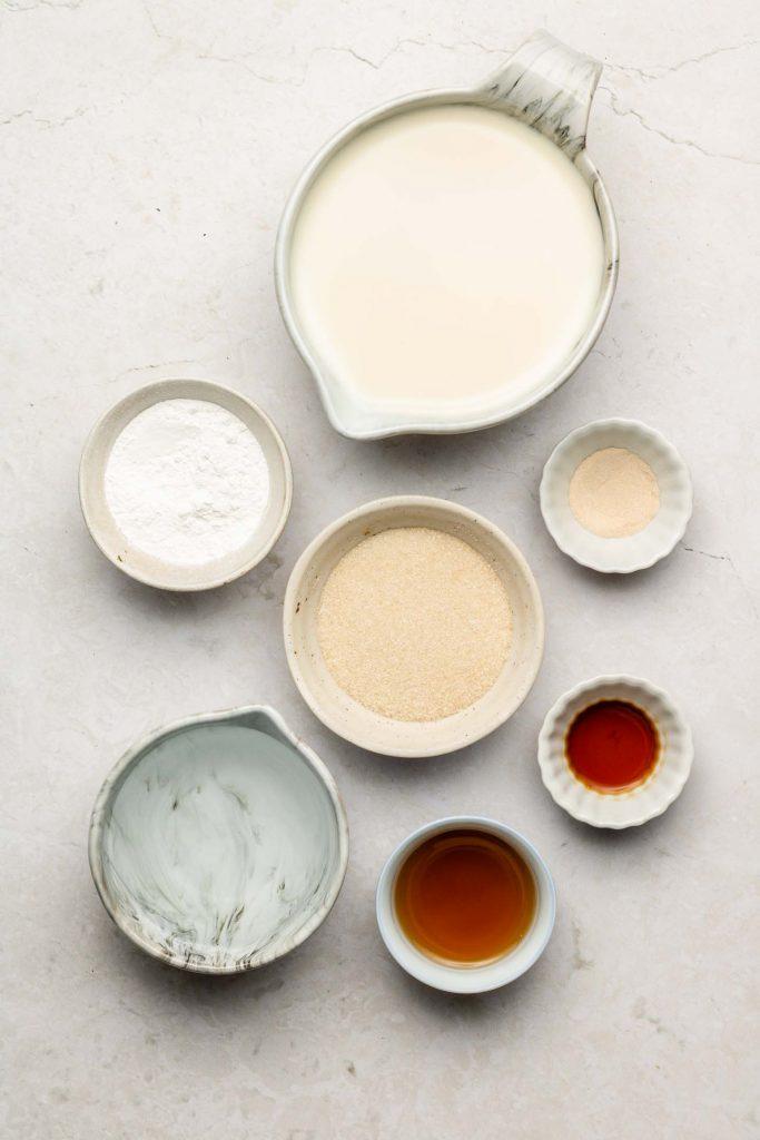 ingredients for no bake creme caramel pudding